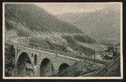 Tauernbahn. Lassacher Viadukt bei Mallnitz