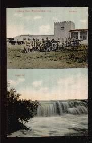 Outjo. Deutsch-Südwest-Afrika, Artillerie, Wasserfall