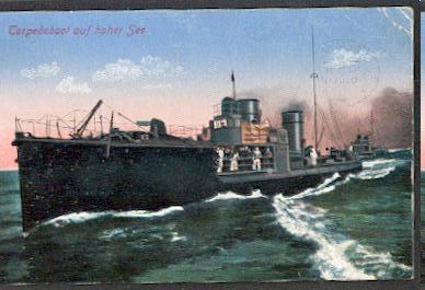 Torpedoboot auf hoher See.