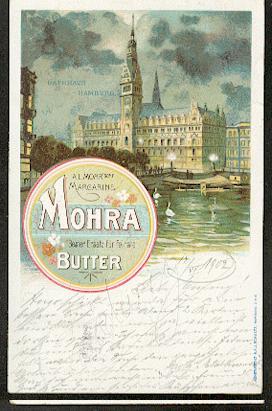 Werbung, Hamburg Mohra Margarine.
