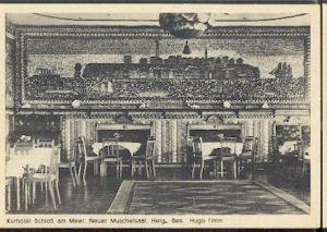 Büsum. Kurhotel Schloss am Meer. Neuer Muschelsaal Helg. Bes. Hugo Timm.
