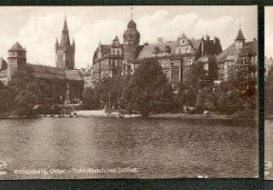 Königsberg Ostpr. Schlossteich v Schloss.