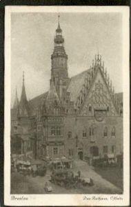 Breslau.Das Rathaus. Ostseite.