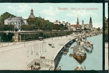 Dresden. Blick von der Carolabrücke.