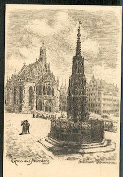Nürnberg. Schöner Brunnen.