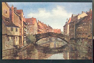 Nürnberg. Fleischbrücke.