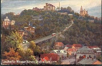 Dresden. Loschwitz Weisser Hirsch. Drahtseilbahn.