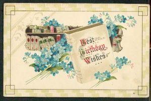 Best Birthday Wishes. Litho und Prägedruck