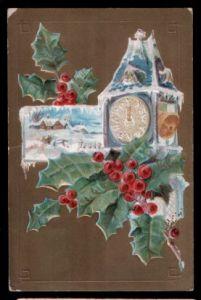 Christmas Wishes Litho und Prägedruck