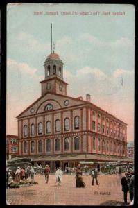 USA. Boston. Maas. Feneuil Hall. The Cradle of Liberty.