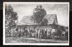 Brest Litowsk. Russische Dorfbewohner bei Brest Litowsk