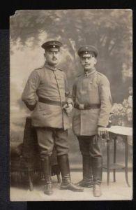 2 Soldaten. Fotopostkarte.