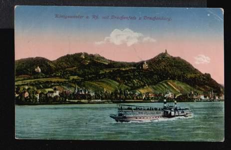 Königswinter. a. Rh. mit Drachenfels und Drachenburg