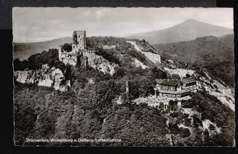 Königswinter. Drachenfels, Wolkenburg und Oelberg, Luftaufnahme