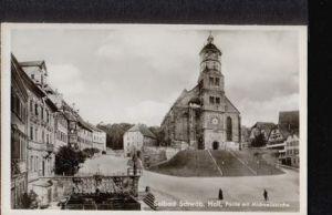 Schwäbisch Hall. Solbad. Partie mit Michaeliskirche