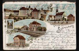 Schrozberg. Gruss aus. Schloss mit Haushaltsschule