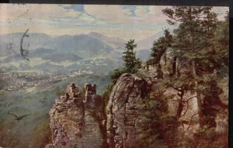 Baden Baden. Partie mit den Felsen