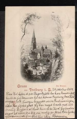 Freiburg. Gruss aus. Das Münster