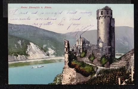 Der Rhein. Ruine Ehrenfels