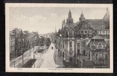 Köln. Habsburgerring mit Opernhaus