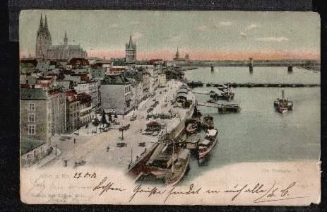 Köln. Am Rheinufer