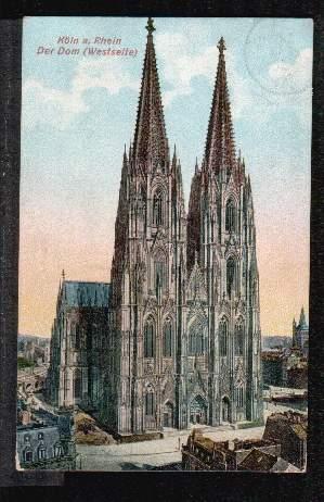 Köln. Der Dom. Westseite