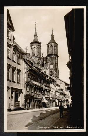 Göttingen. Blick auf Johanniskirche