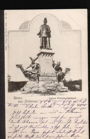 Kiel. Holtenau Gruss aus Kaiser Wilhelm Denkmal
