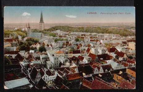 Lübeck. Panorama vom Petriturm