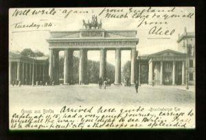 Berlin. Gruss aus Berlin Brandenburger Tor