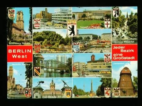 Berlin. Berlin West. Jeder Bezirk eine Grossstadt