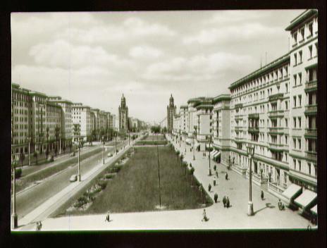 Berlin. Stalinallee Blick nach Westen