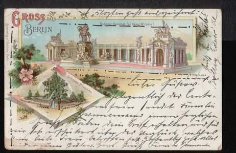 Berlin. Gruss aus. National Denkmal für Kaiser Wilhelm I