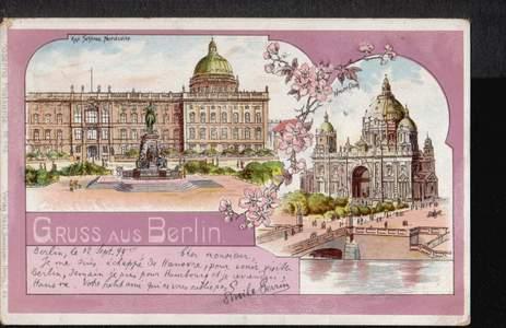 Berlin. Gruss aus. Kgl. Schloss Nordseite. Neuer Dom.