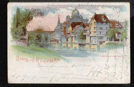 Nürnberg. Aussicht v.d. Insel Schütt
