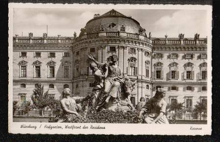 Würzburg. Hofgarten, Westfont der Residenz