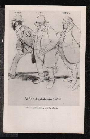 Frankfurt. Süsser Aepfelwein 1904