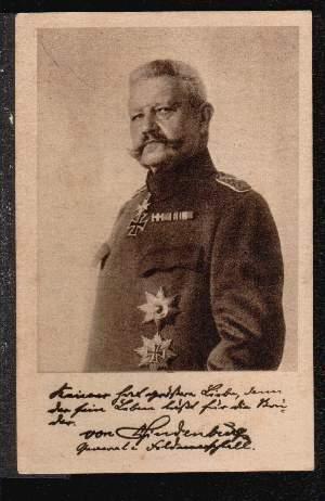 Hindenburg. Ludendorff Spende