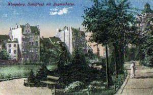 Königsberg. Schlossteich mit Bogenschütze