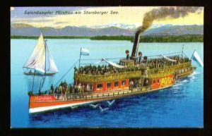 x00099; Salondampfer München am Starnberger See.