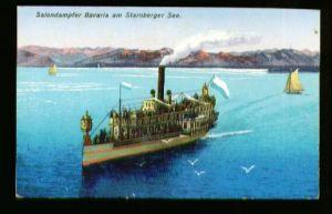x00113; Salondampfer Bavaria am Starnberger See.