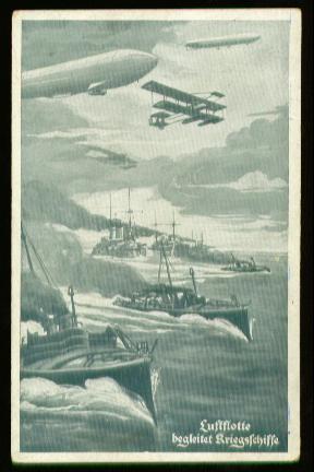 x00138; Luftflotte begleitet Kriegschiffe. Deutsche Luftflotten Verein.