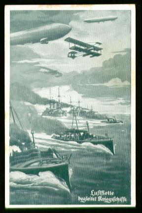 x00298; Luftflotte begleitet Kriegsschiffe. Deutscher Luftflotten Verein.