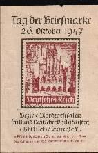 x00565; Tag der Briefmarke. 26 Oktober 1947. Ganzsache.
