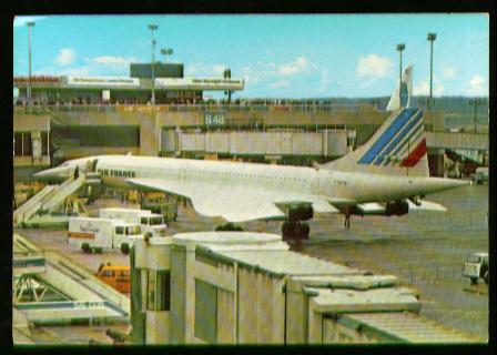 x00744; Flughafen Frankfurt Main. Überschall Jet Concorde.