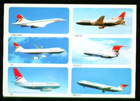 x00879; Concorde, Tristar, 747, Trident, 737, BAC 1/11.
