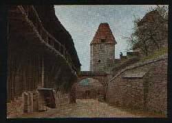x01305; Landshut in Bayern (Isar) Wehrgang der Burg Trausnitz.