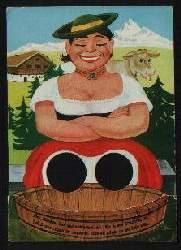x01641; Dies Mädchen, frok und wohlgemut, die Fusze in den Waschtrog tut.
