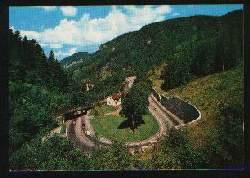 x01853; Hollental mit Ravennaviadukt. Schwarzwald.