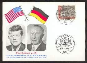x02038; Kennedy J.F. Deutschland Grüsst. Keine AK.